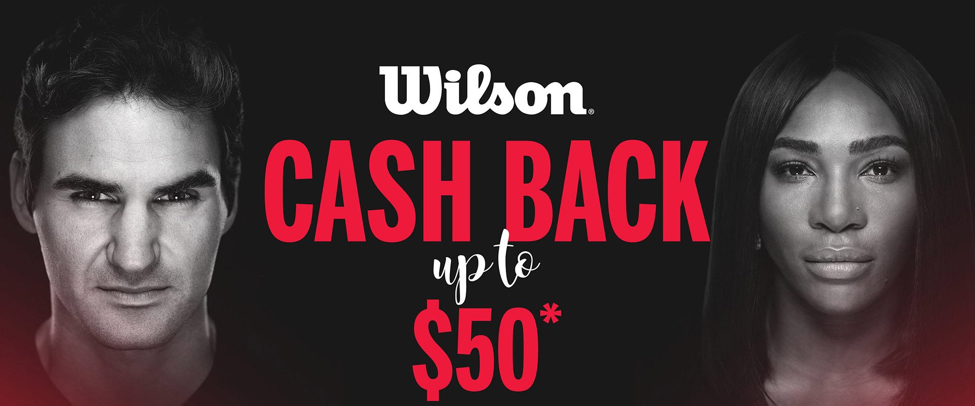 Wilson cash back up to $50